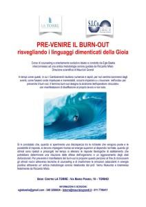LA TORRE Pre-venire Burn-out